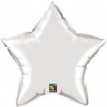 "Silver Star Foil Balloon (36"") 1pc"
